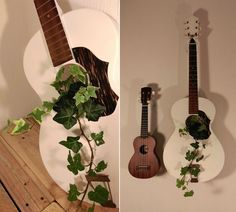 16 Creative Ways to Recycle Old Guitar into Home Décor Items Guitar Crafts, Record Crafts, Guitar Diy, Guitar Decorations, Guitar Chair, Broken Guitar, Guitar Wall Art, Ways To Recycle, Cool Chairs