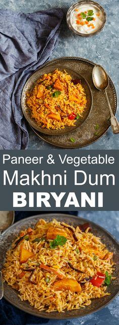 Paneer & Vegetable makhni Dum Biryani