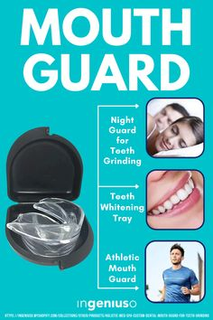A mouthguard is perfect for teeth grinding, providing excellent & professional relief for both people who grind their teeth and their loved ones by eliminating the habit and improving sleep quality so that everyone in the family can have a good night's rest. #mouthguard #dentalcare #nightguard #dental #toothcare Advertise Here, Teeth Grinding, Amazon Purchases, Have A Good Night, Mouth Guard, Sleep Quality, Teeth Care, Dental Care, Teeth Whitening