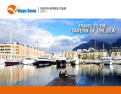 The port of #CapeTown is deemed to be one of the busiest shipping corridors of the #world. Travel to #SouthAfrica this puja only @Rs149,990 with #VayuSeva