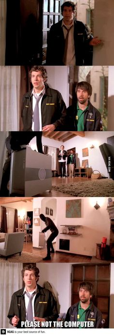 Didn't you hang that shelf? The first episode deffinatly had the most comedy in it!