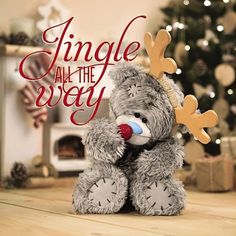 3D Holographic Bear and Red Nose Me to You Bear Christmas Card £3.59