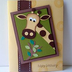 Giraffe Birthday Card Great for a little boy!!
