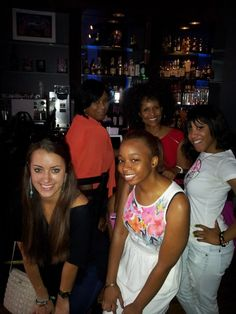 Show producers Olivia and Jourdan at the Kick off show for the F Club along with Me, Ramona and Amanda. udetroit.com