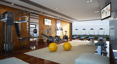The communal fitness center at Amaya Hill