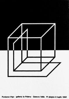 Fontana+Vigo, 1968, poster Galleria La Polena genova