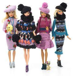 Barbie com tricô