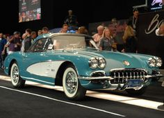 From CarBuyingTips.com This is one very special rare 1960 #Chevrolet #Corvette Convertible in Tasco Turquise color.  They did one incredible body-off chassis restoration, and this sold at the #barrettjackson #auction last month for $150,000 plus a $10,000 buyer's premium.  #corvette #corvettestingray #1960corvette #corvetteconvertible #corvetteparts Corvette Convertible, Barrett Jackson Auction, Corvettes, Fuel Injection, Cool Cars, Classic Cars, Automobile, The Incredibles, Bike