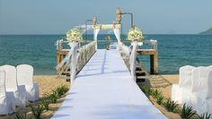 Beautiful setting on the Jetty for an over water wedding at Evason Ana Mandara, Vietnam