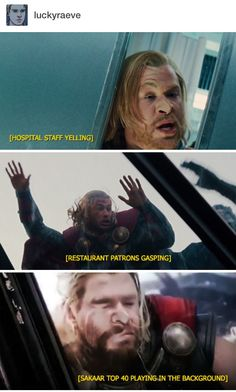 The mighty and handsome Thor. <<< oh wait I thought this was a compilation of hilarious Thor subtitles lol