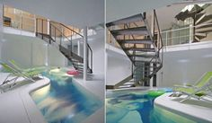 I wish I had an indoor pool like this.