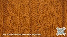 Example of the Fishtail Cable Stitch Right Side