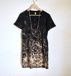 Black and Tan Ombre Speckled Day Dress by KarinaManarin on Etsy