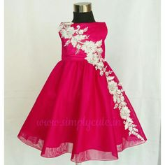 Customized fuchsia frock from  Simply cute  is elegant and comfortable. c43dbcabf
