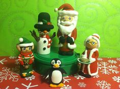 Christmas holiday winter peg people dolls by KrissiesKrafts  These are sooo cute!