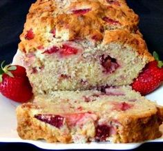 """Strawberry Cream Cheese Bread: """"This is probably the best strawberry bread recipe I've ever made! My whole family loves it. If you love strawberries, try this recipe."""" -Lvs2Cook"""