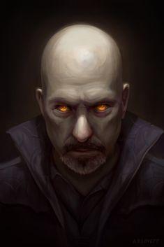 Vampire Portrait, Aaron Lovett on ArtStation at https://www.artstation.com/artwork/vampire-portrait-4242b334-f0bd-4edc-a71f-ec224e78039d