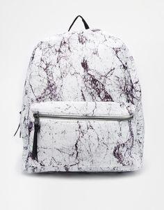 1fdbe63ec453 New Look Backpack in Marble Print Mini Backpack