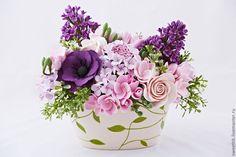 Купить Интерьерный букет с сиренью - сиреневый, сиренево-розовый, весенний, весенние цветы, букет