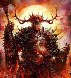 Drangrotha : Morphed Demon : Leader of Brook-Crest Red Caste : A demon lord that was cast out from his layer of the Abyss after he was tricked by a mortal, who entered his domain. Fantasy Demon, Fantasy Monster, Monster Art, Dark Fantasy Art, Fantasy Images, Dark Creatures, Fantasy Creatures, Mythical Creatures, Ange Demon