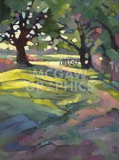 Just Landscape Animal Floral Garden Still Life Paintings by Louisiana Artist Karen Mathison Schmidt: Afternoon Walk contemporary fauve impressionist oil painting of a tree-lined country road in spring Art Painting, Landscape Paintings, Fine Art, Tree Art, Painting, Oil Painting, Art, Abstract, Landscape Art