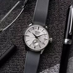 Seiko Presage Cocktail Time Watch on a Barton Bands Gray Silicone strap – picture credit – dp graphics Timex Watches, Seiko Watches, Amazing Watches, Beautiful Watches, Popular Watches, Watches For Men, Wrist Watches, Seiko Presage, Seiko Diver