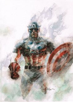 Captain America. Canvas by Leinil Francis Yu