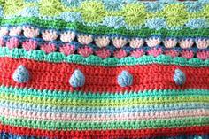 Poco woollie: puntada Mixta manta stripey-crochet Una larga Preciso Tutorial paso a paso con fotos ❥Teresa Restegui http://www.pinterest.com/teretegui/❥