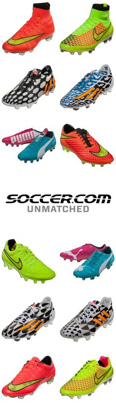 Just some of the World Cup boots you'll see on the fields in Brazil!