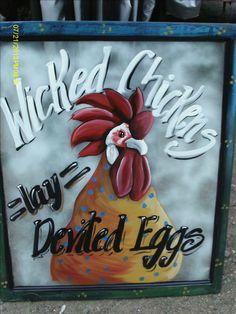 Instant Access To Woodworking Designs, DIY Patterns & Crafts Painted Window Screens, Window Art, Window Frames, Window Ideas, Old Window Projects, Art Projects, Projects To Try, Chicken Crafts, Chicken Art