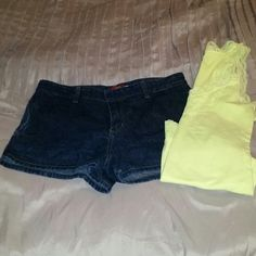 Super cute Dickies shorts Dark wash shorts. Pockets front and back. Never worn. Dickies Jeans