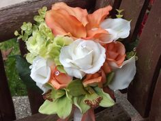 Beach / Destination Coral / Ivory / Lime Real Touch by mtfloral, $89.00
