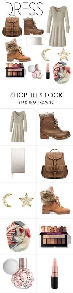 """""""Untitled #11"""" by makenna-smith ❤ liked on Polyvore featuring prAna, Steve Madden, Sugar Paper, Finn, Alexandre Birman, BP. and MAC Cosmetics"""