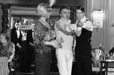"""The director leading the actor. Kim Novak, David Hemmings and David Bowie on the set of """"Just a Gigolo"""" 1977"""
