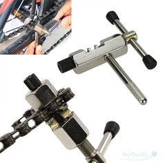 Stainless Steel Bicycle Chain Breaker Pin Remover, free shipping option to most countries worldwide. For best shopping experience visit us, trainedtools.com Bicycle Tools, New Bicycle, Bicycle Parts, Moutain Bike, Mountain Bicycle, Bicycle Accessories, Motorcycle Parts And Accessories, Cycle Chain, Bike Chain