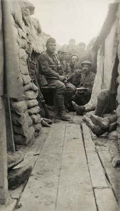 The second battalion of the Monmouthshire Regiment in the trenches, Le Bizet, April 1915.