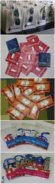 Kits anti resaca para noches de fiesta, bodas, etc. Mira cómo se hacen en http://laneuronadelmanitas.blogspot.com.es/2015/08/kits-antiresaca.html