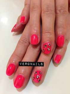 Veronails: Freehand Heart Nail Art Gelish Mani