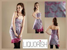 Liquorish Jacquard Frill Bustier Dress, better than half price now at: https://www.liquorishonline.com/liquorish-jacquard-frill-bustier-dress.html