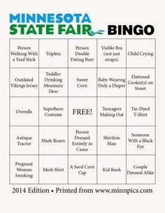 """2014 Minnesota State Fair Bingo ~ a """"must do"""" for the Fair this year! #MNStateFair"""