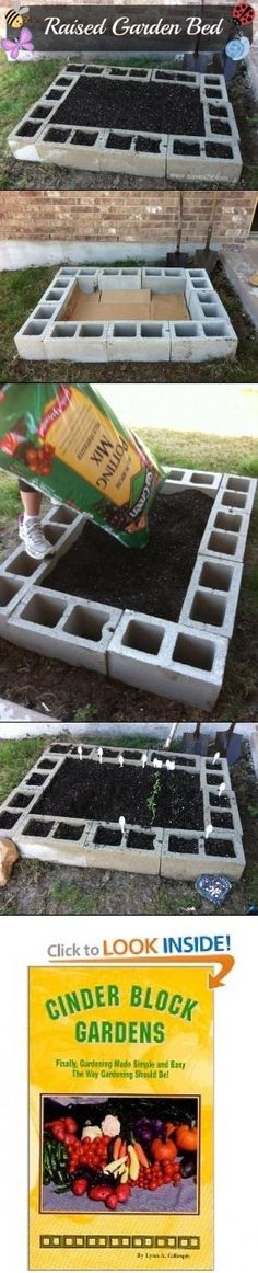 cinder block raised bed garden by Ayuna