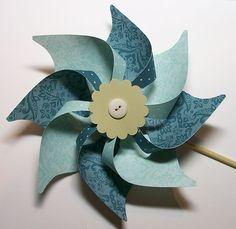 designer paper pinwheel