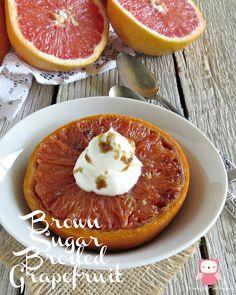 Brown Sugar Broiled Grapefruit | Growing up Madison