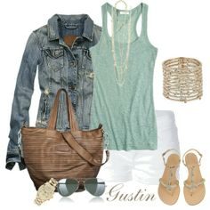 Polyvore Summer Outfits With Shorts | Love Of Family & Home: Let's Talk Fashion....20 Outfits For Summer