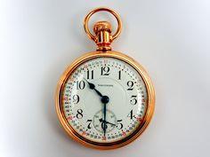 Mega Rare Antique Railroad 18s 21J Waltham Vanguard Gold Pocket Watch Mint #Waltham