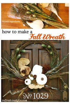 Up-cycle those old orange pumpkins to make your fall wreath this year! #diywreath #doordecor