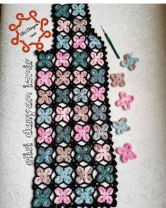 🌸Spring Flowers Motif Vest - Here you are. With this model . Crochet Cowel, Crochet Clutch, Crochet Jacket, Crotchet Patterns, Baby Knitting Patterns, Hand Knitting, Form Crochet, Double Crochet, Crochet Ripple Afghan