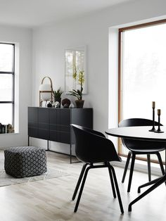Black accents in a newly build - via cocolapinedesign.com