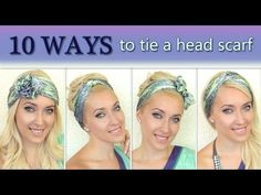How to tie a headscarf turban and headband style 10 different ways to wear a scarf