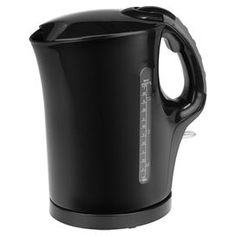 "Kalorik Electric Water Kettle in Black now $21.95 was $40.00  Quick-action electric water kettle with an automatic shut off.  Product: Electric water kettleConstruction Material: PlasticColor: BlackFeatures:  Automatic shut off1.75 Liter capacity Dimensions: 9"" H x 5.125"" W x 8.5"" D"